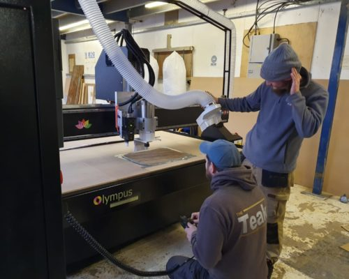 Olympus Select CNC Router being used