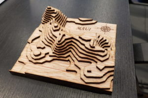 Island 3D Wooden Model