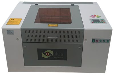 The Oculus benchtop laser machine is our smallest laser machine model, making it ideal when space is limited.
