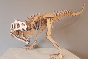 T-Rex 3D Wooden Model