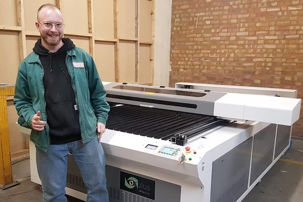 MDF and ply benefit from the cutting capabilities the flatbed laser offers.