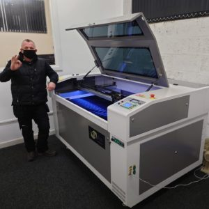 Prototypes have been produced within research departments on the Oculus free-standing laser cutter.